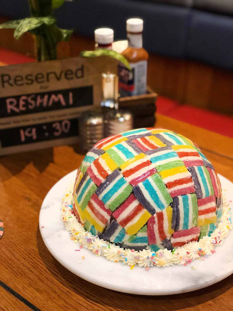Rainbow Charlotte Royale at Tap Tavern #GBBO