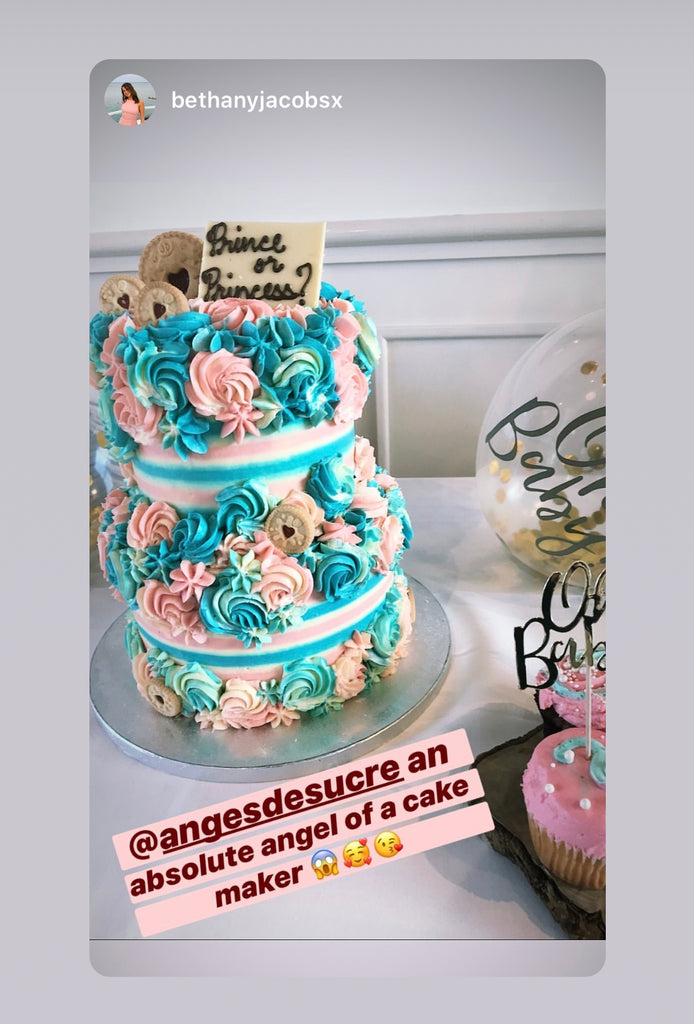Rhitrition Gender Reveal Party Cake