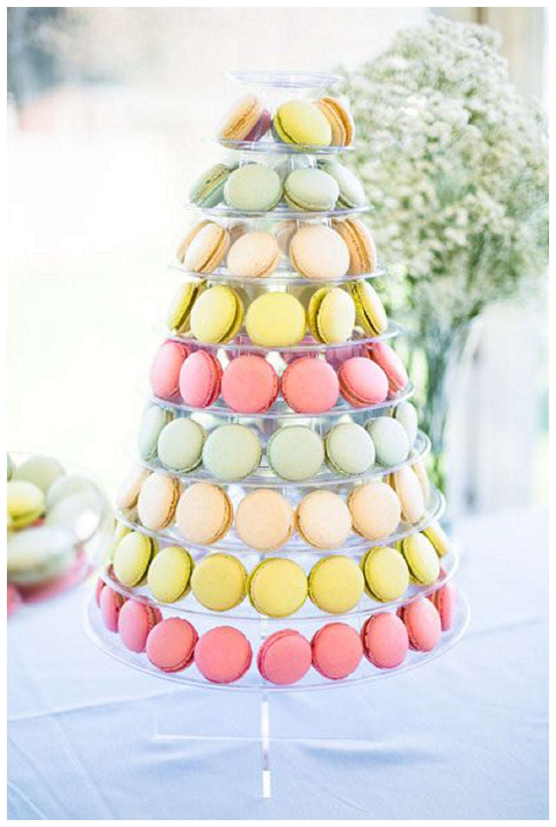 Macaron Tower Wedding Cake with Lemon, Rose and Elderflower Flavours