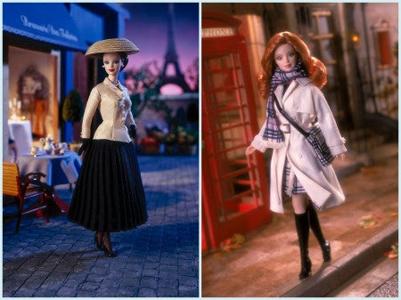 Dior and Burberry Barbies