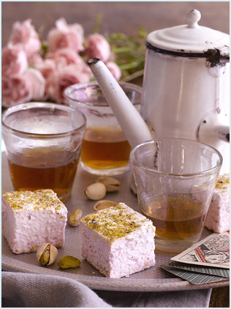 Rose Pistachio Marshmallows