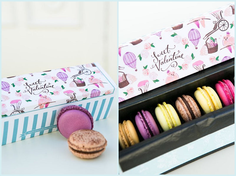 Valentines Day Macarons and Flowers Gifts Delivery UK