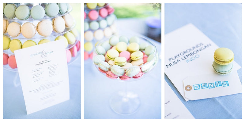 Wedding macaroons and macaron tower