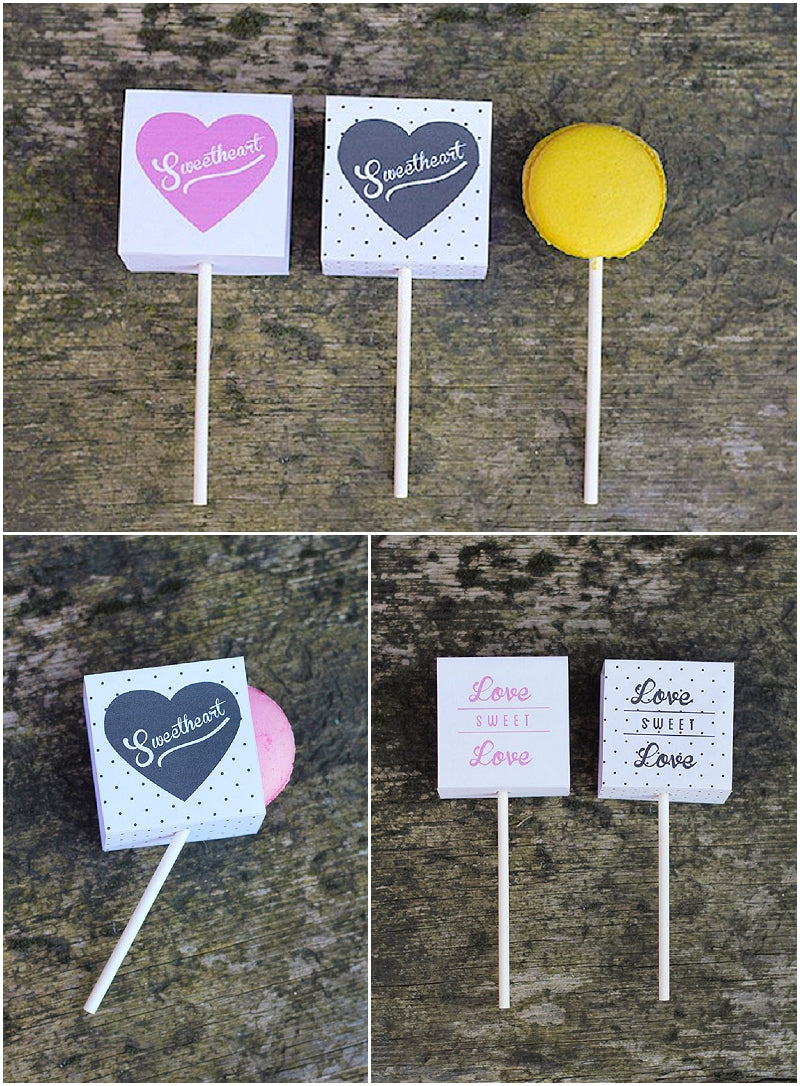 Macaron Pops as Unique Wedding Favours