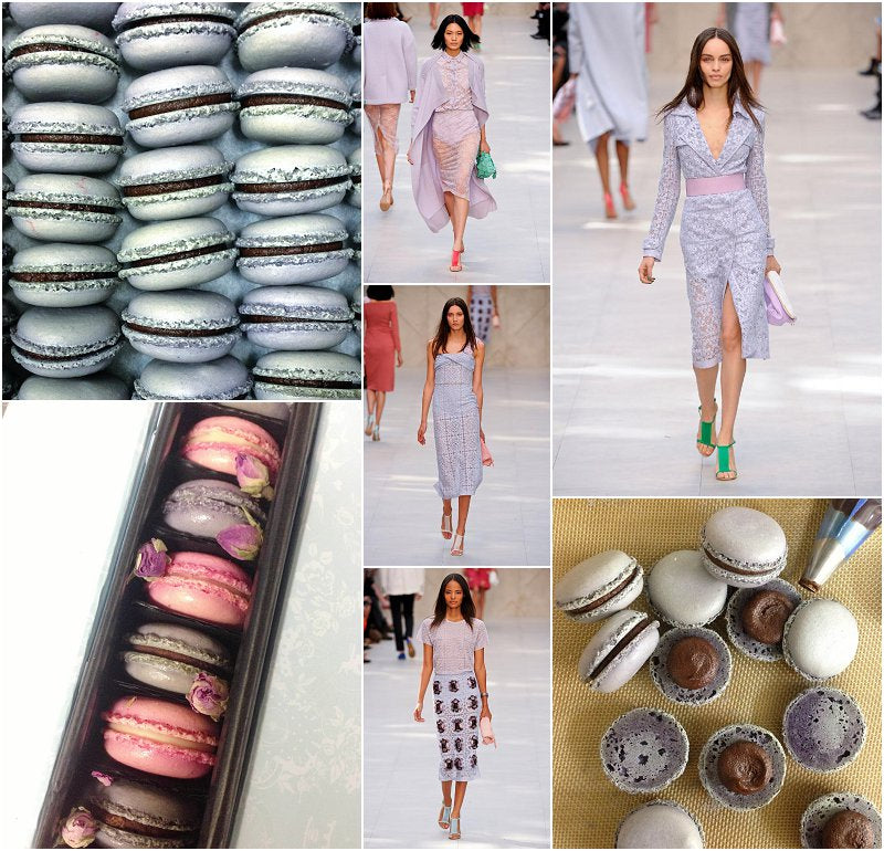 Pastel Pink Purple Lilac Macarons London Fashion Week UK