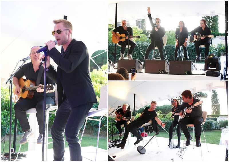 Ronan Keating performing in Saint Tropez