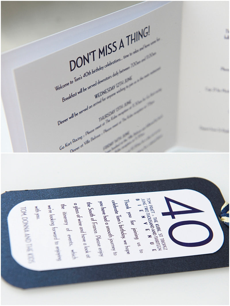 Party Stationery Suite by Little Fish Events