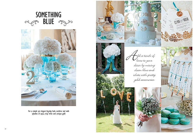 Wedding-Magazine-April-May-2013-Blue-Teal-Gold-Wedding-Macarons-Macaroons-London-UK-Delivery-02