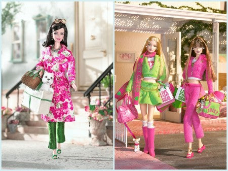 Kate Spade 2003 and Juicy Couture 2004 Barbies