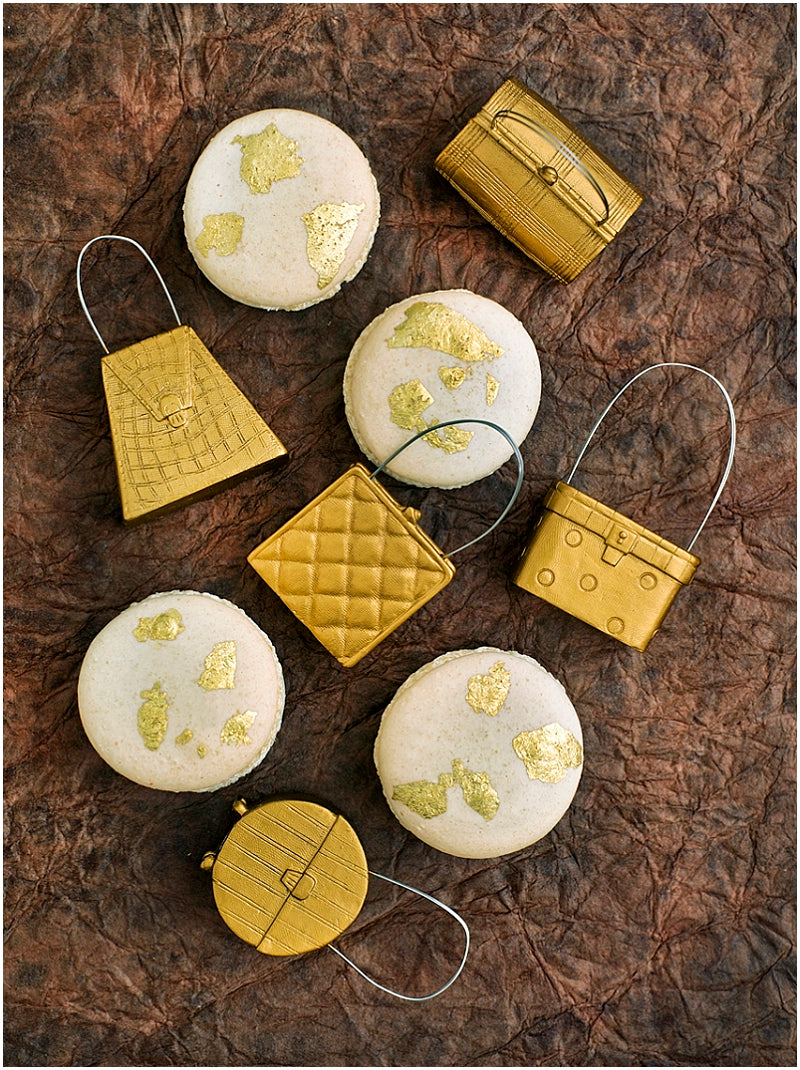 macarons-macaroons-london-uk-wedding-favours-magazine-champagne-gold-leaf
