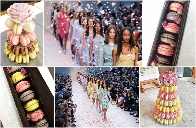 Pastel Macarons London Fashion Week UK Burberry