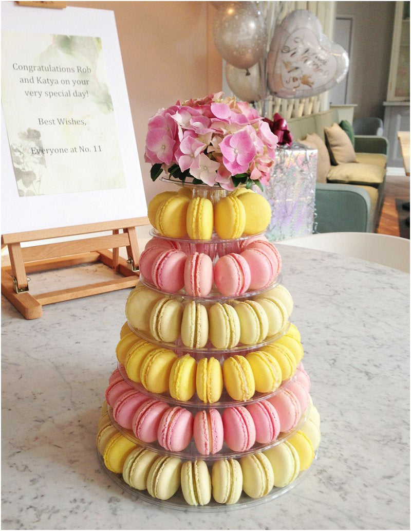 Pastel Wedding Macaron Tower London UK