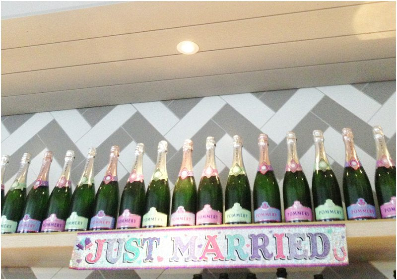 Pastel Champagne Bottle Labels