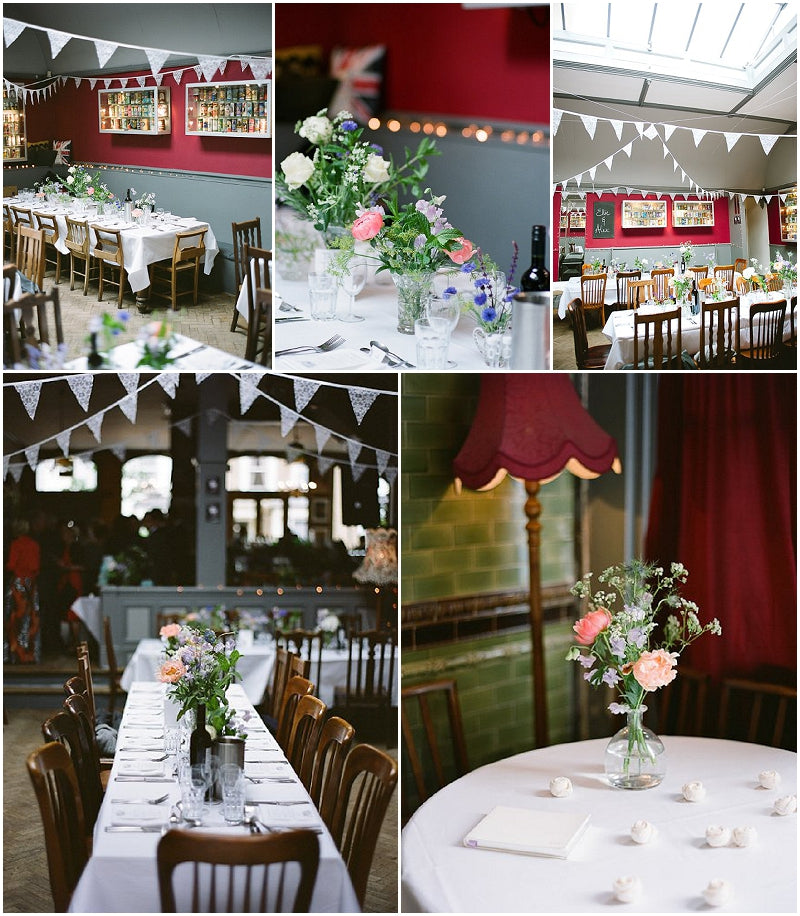 Shabby Chic London Gastro Pub Wedding