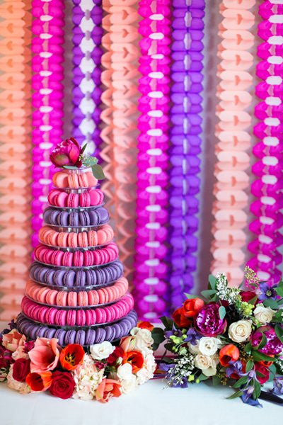 Wedding Macarons and Flowers