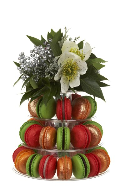 Christmas macarons tower gift