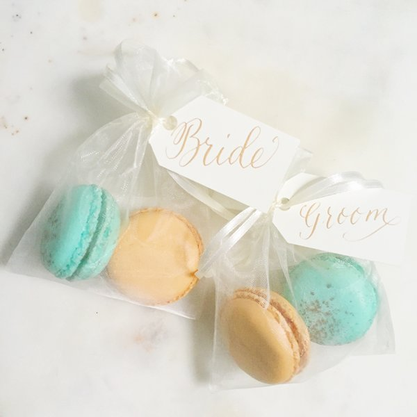 Personalised Macaron Wedding Favours
