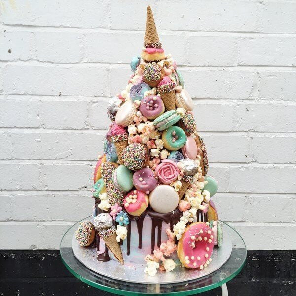 Unicorn croquembouche cake by Anges
