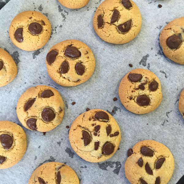emoji chocolate chip cookies
