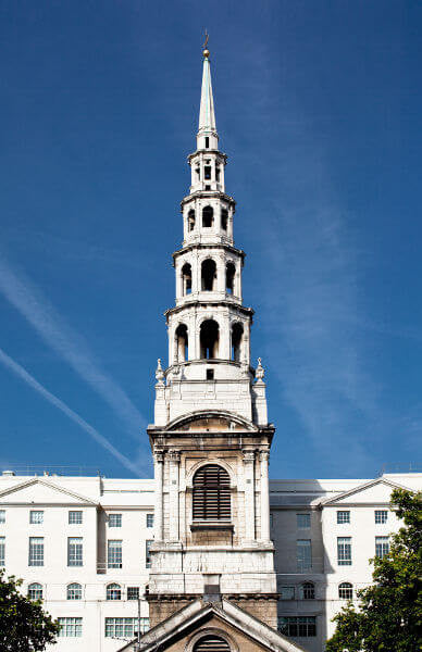 Is it a church spire or a wedding cake?