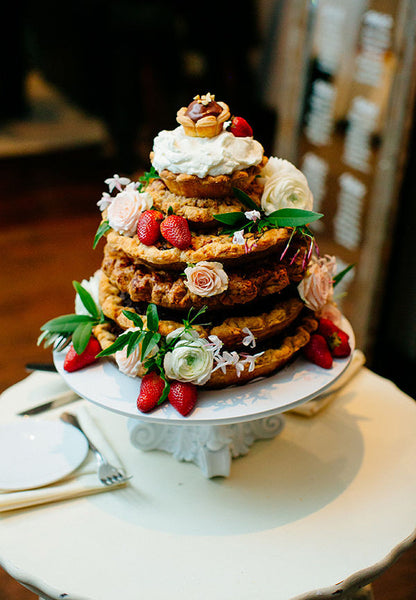 Stacked pie tower