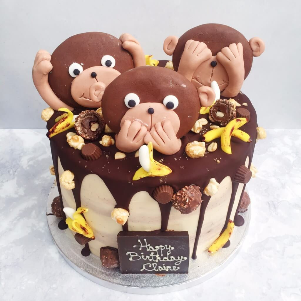 Fantastic Kids Monkey Business Birthday Cake Anges De Sucre Funny Birthday Cards Online Unhofree Goldxyz