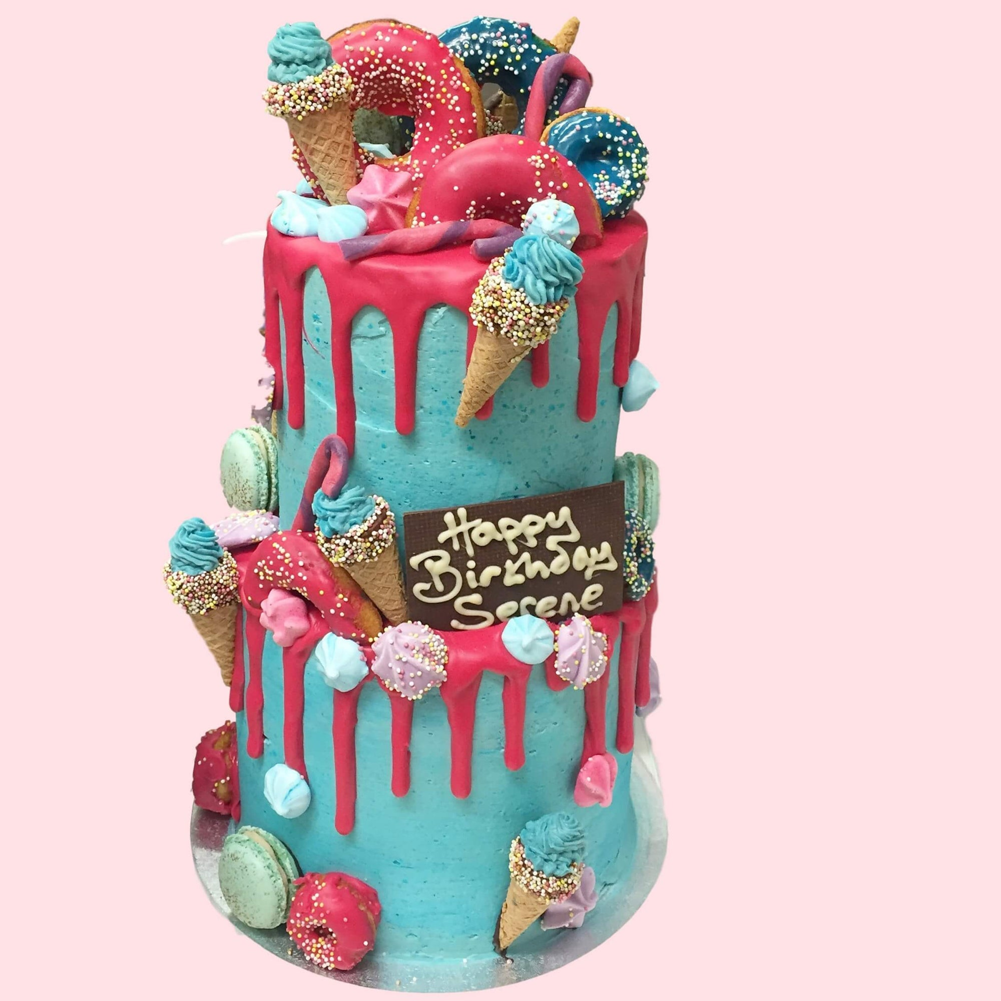 Fun Fair Unicorn Rainbow Layer Cake Anges De Sucre