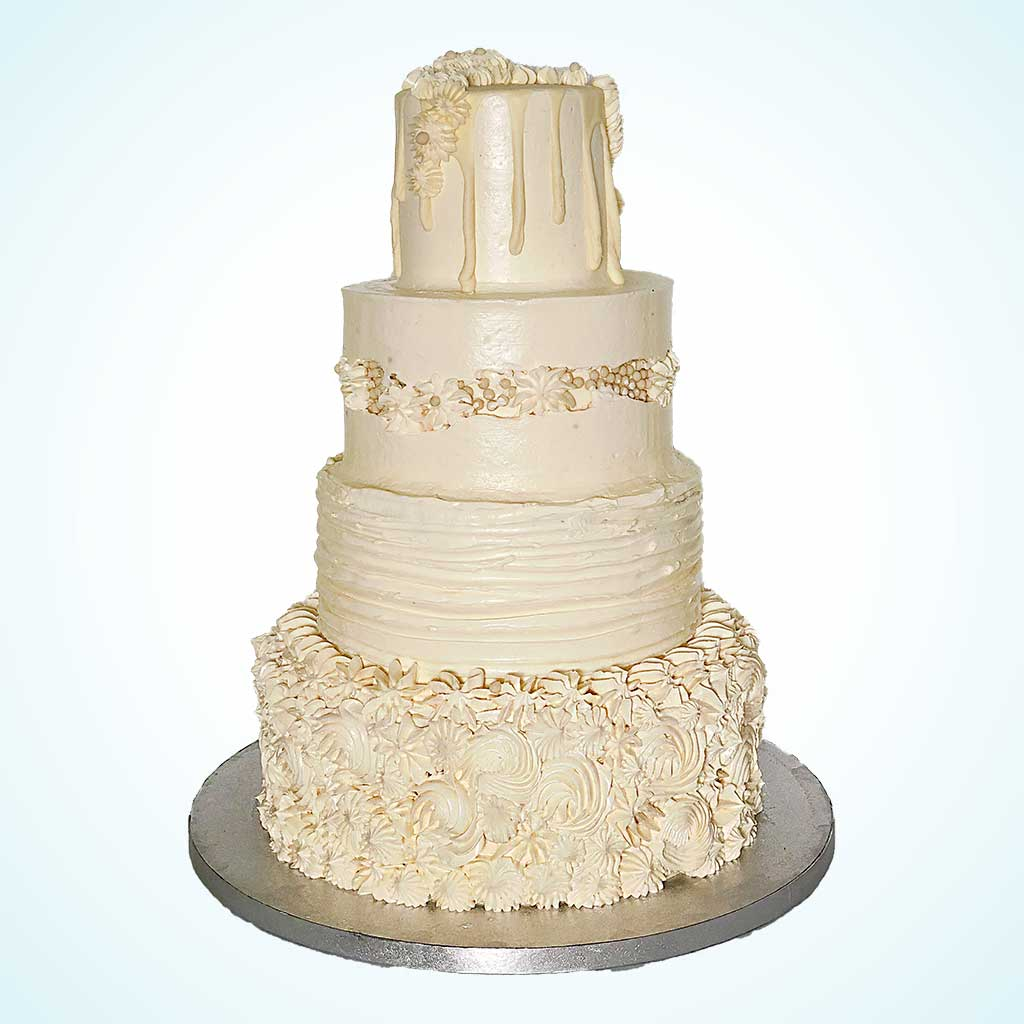 Buttercream Ivory Wedding Cake