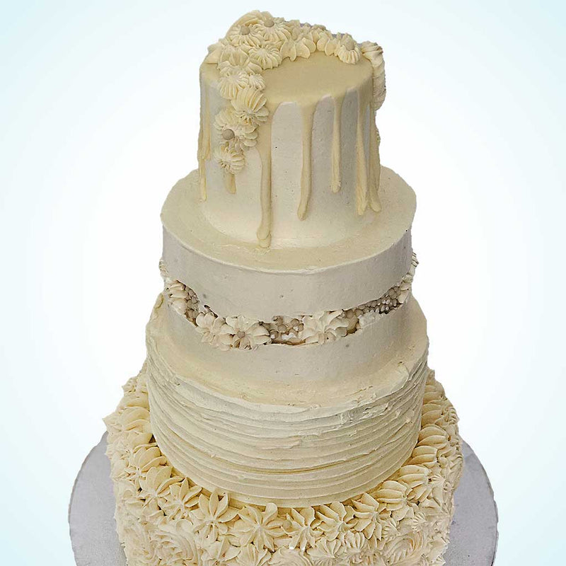 4 Tiered Buttercream Dream Wedding Cake
