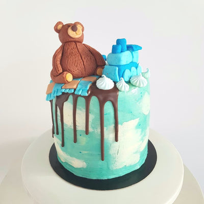 Bear on the Train Cake 1