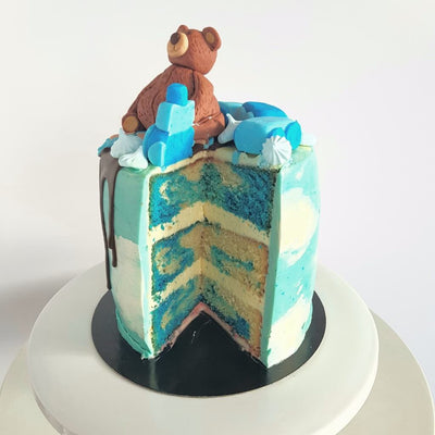 Bear on the Train Cake 4
