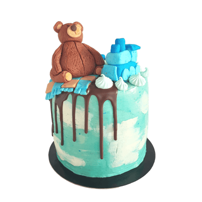 Bear on the Train Cake 5