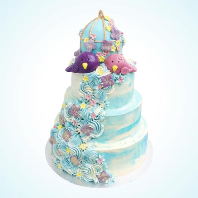 Birdcake Wedding Cake