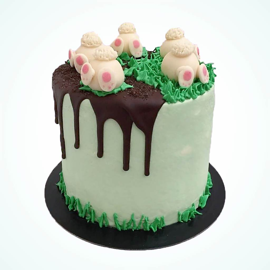 Easter Bunny Burrow Carrot Cake