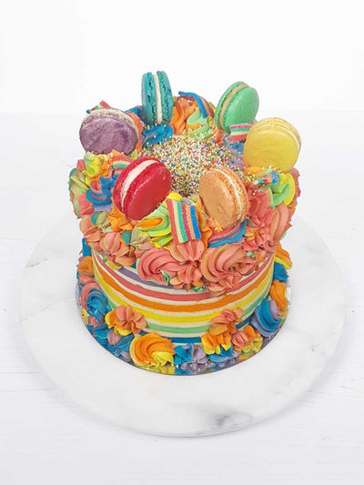 Carnival Rainbow Fault Line Cake Delivery London