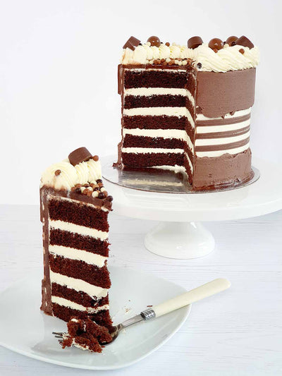 Chocolate Fault Line Cake Slice