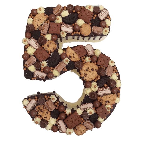 Number Cake Chocolate Cookie Birthday Cake Anges De