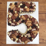 Chocolate Cookie Number Birthday Cake