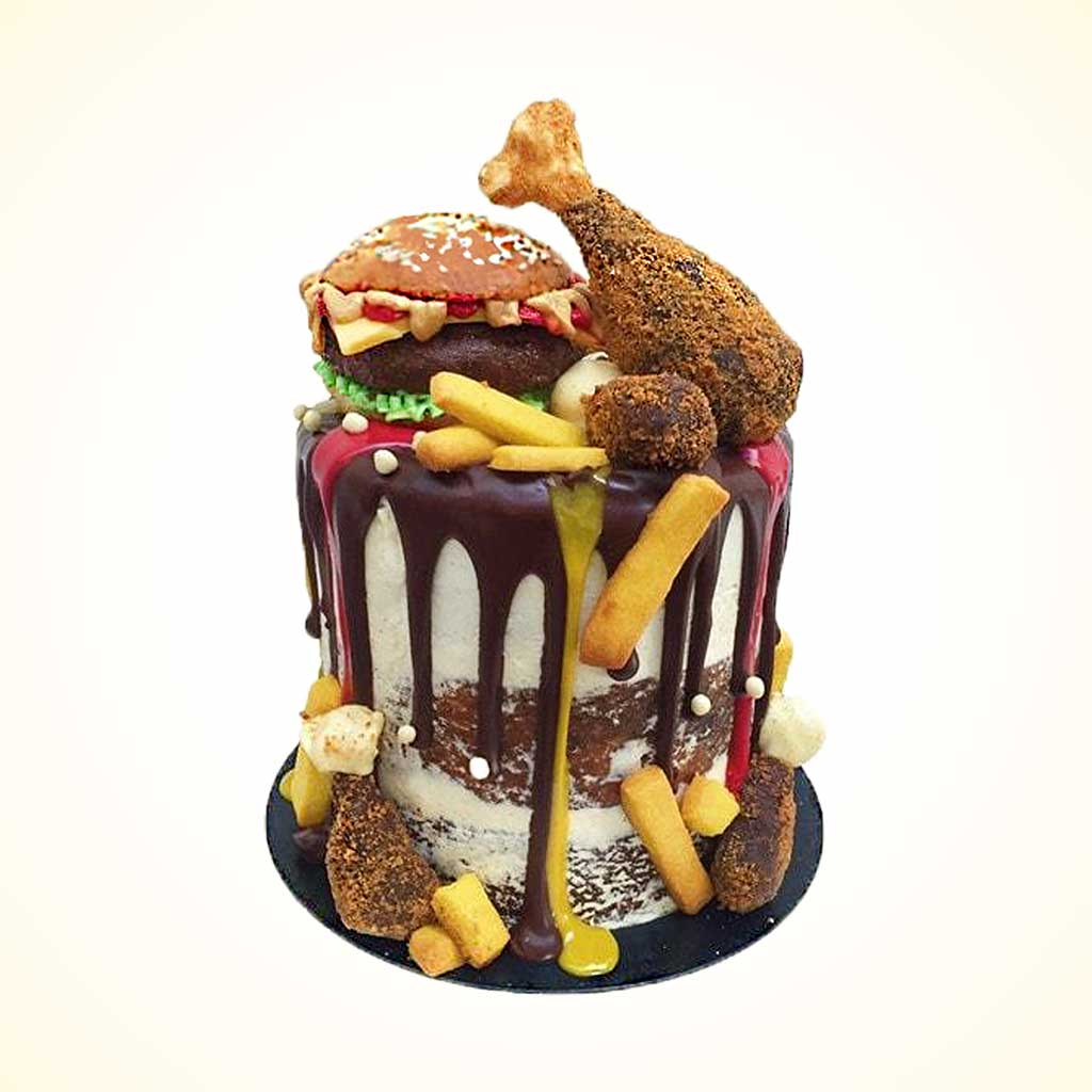 Fast Food Birthday Cake