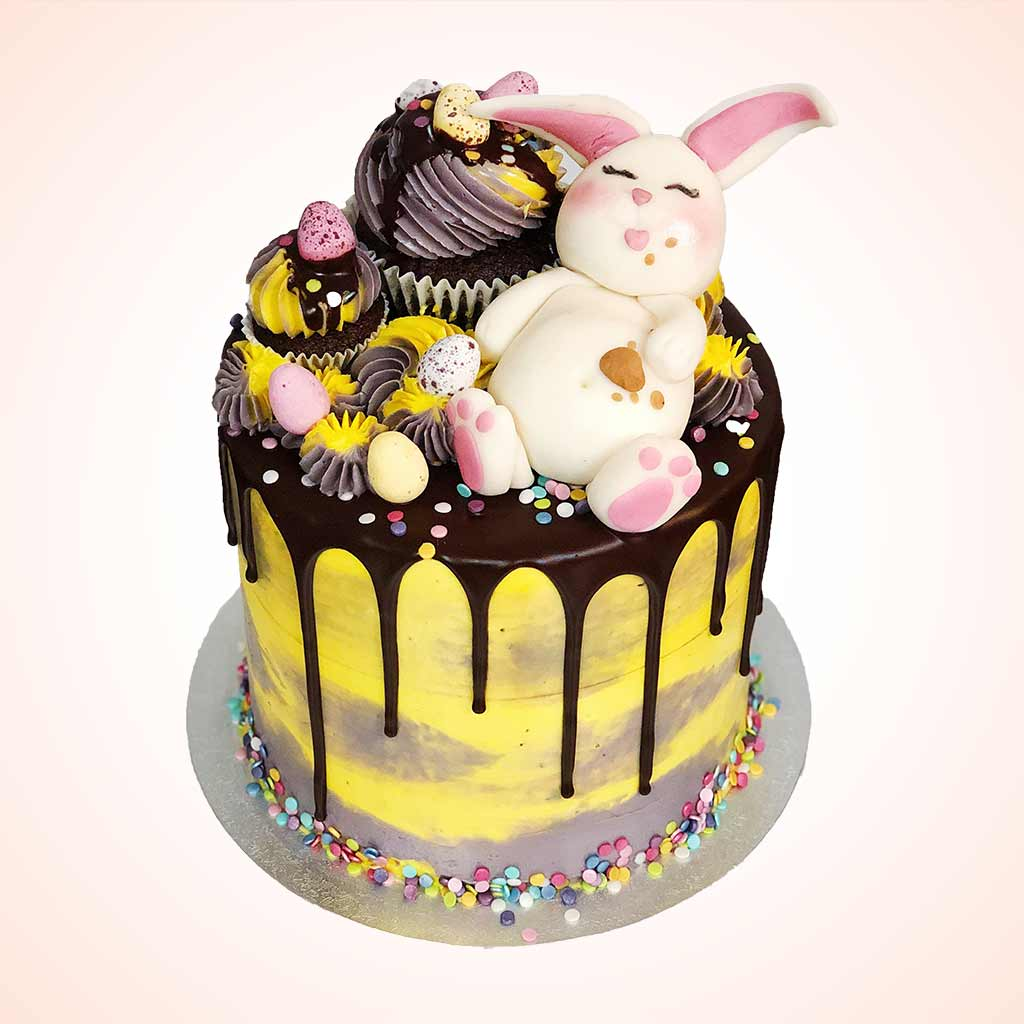 Groovy Fat Easter Bunny Cake Anges De Sucre Birthday Cards Printable Trancafe Filternl