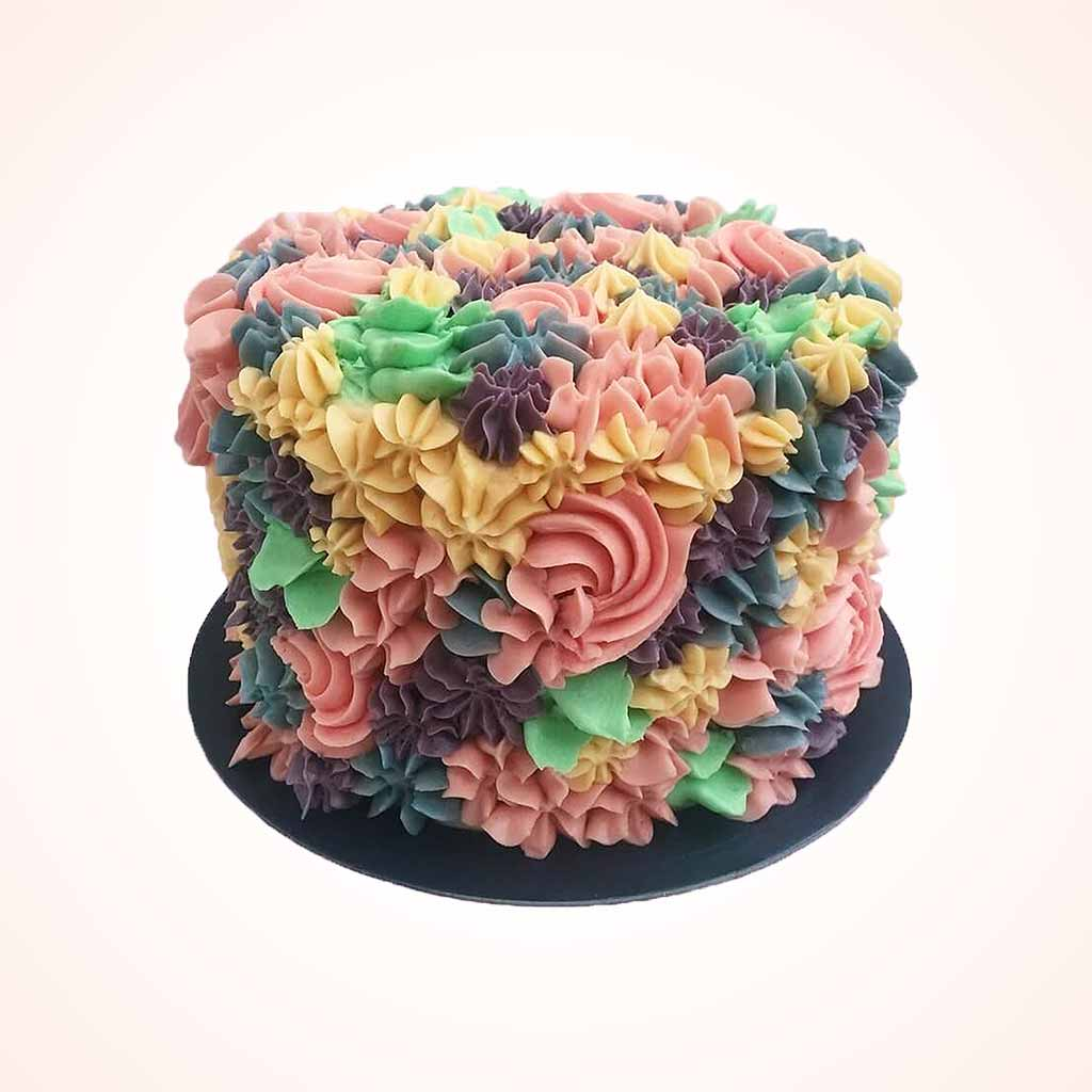 Floral Flush Buttercream Cake