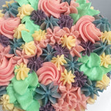 Floral Buttercream Cake Closeup