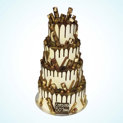 Golden Stella Wedding Cake