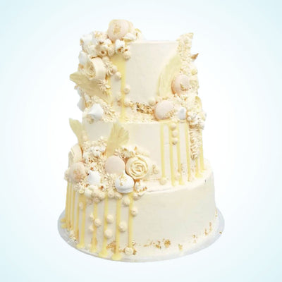Ivory Dreams Wedding Cake