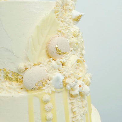 Ivory Dreams Wedding Cake Right Side