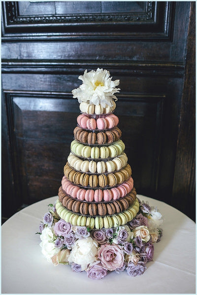 Wedding Macaron Tower UK. Image: Kat Hill