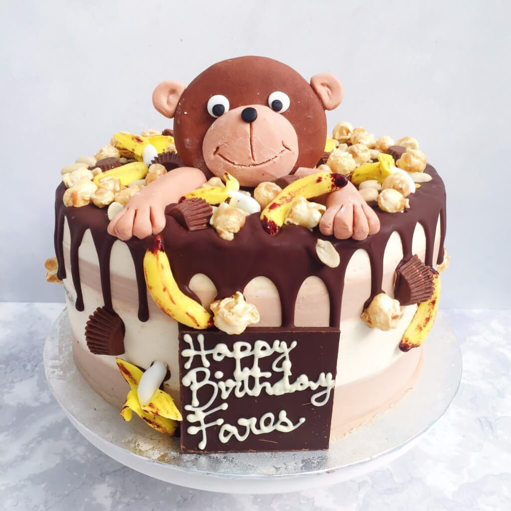 Terrific Marcel The Monkey Birthday Cake Anges De Sucre Funny Birthday Cards Online Unhofree Goldxyz