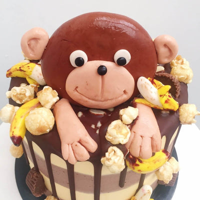 Marcel the monkey birthday cake