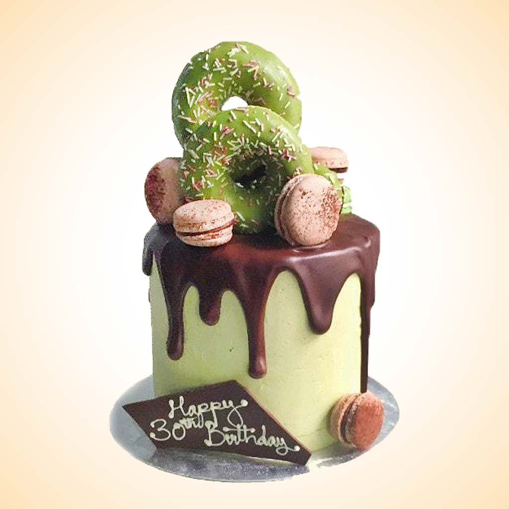 Pleasing Personalised Matcha Birthday Cake Anges De Sucre Funny Birthday Cards Online Chimdamsfinfo