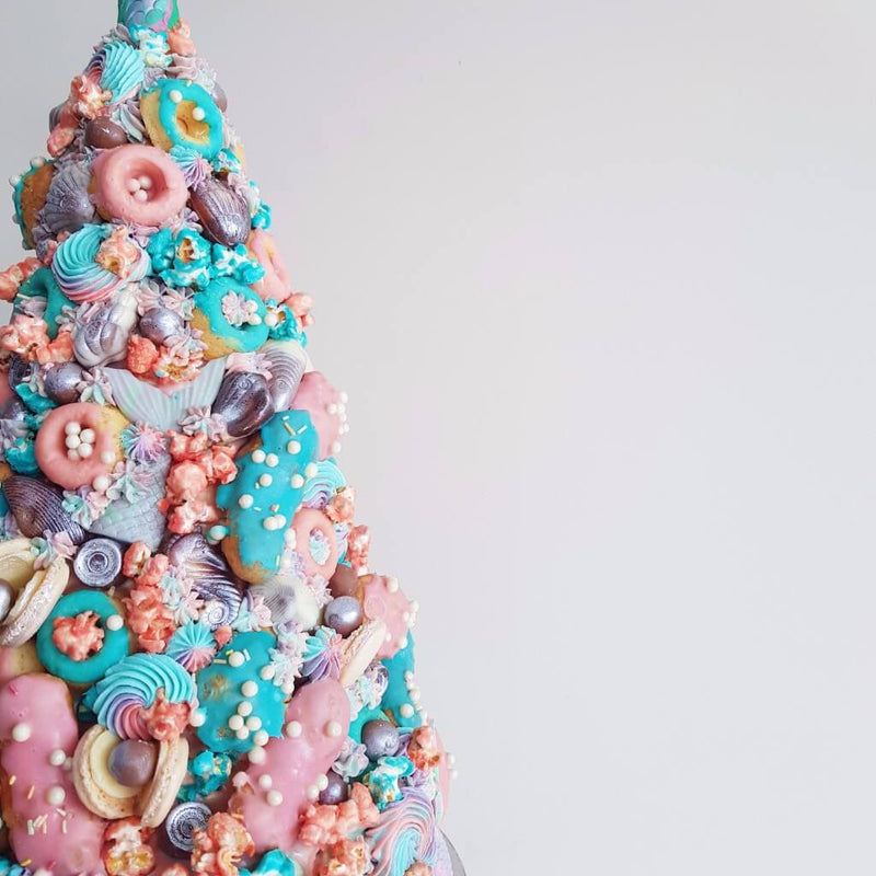 Mermaid Croquembouche Wedding Cake